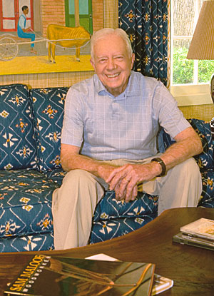 President Jimmy Carter in his Home Office